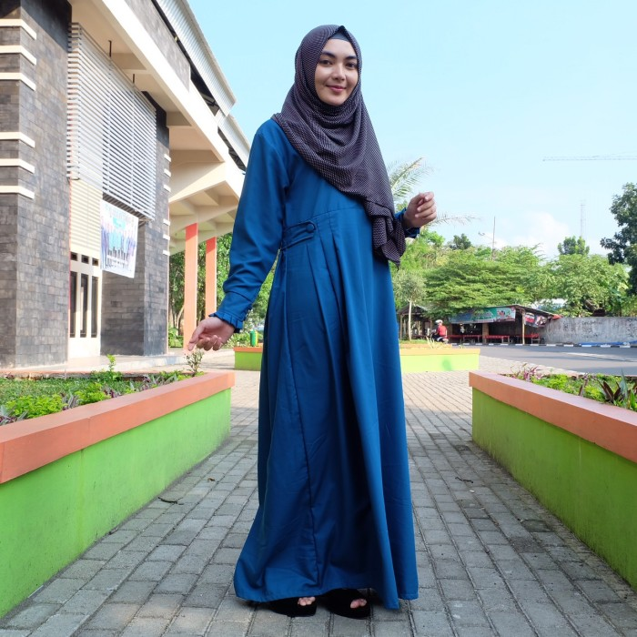 Jual Gamis Toyobo Polos Lena Hijab Collection Tokopedia