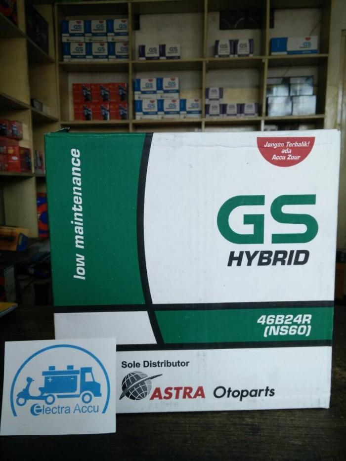 Aki Mobil Toyota Avanza GS astra hybrid NS60 aki basah