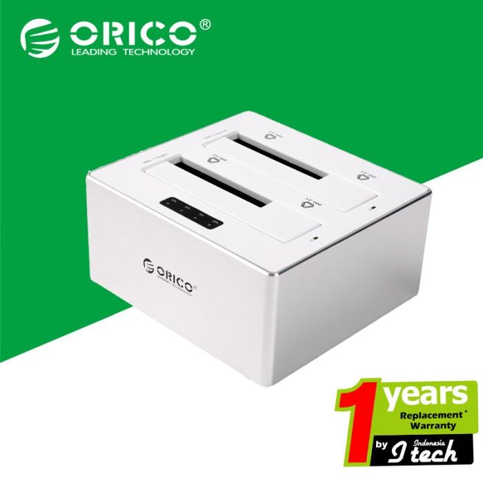 harga Orico 6828us3-c aluminum 2.5  & 3.5  sata hdd docking station Tokopedia.com