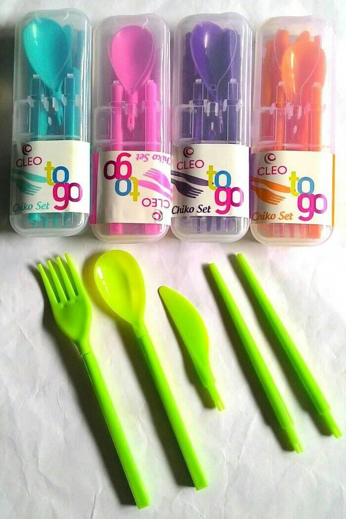 Sendok Travel / Alat Makan Lipat / Alat Makan Portable Cleo To Go