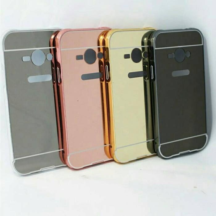 Bumper Mirror Samsung Galaxy V G313 Backcase Hardcase Casing Slide