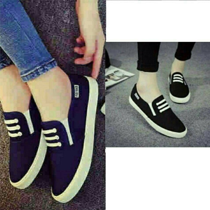 Jual Sepatu Kets Slipon KM7 Koleksi Sepatu Flatshoes Kets Wanita ... c4f0f70142