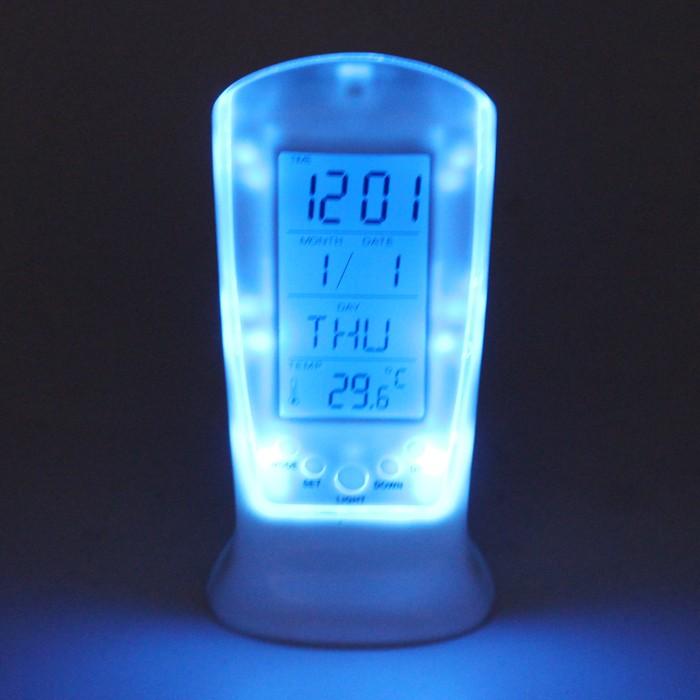 Ruibao jam weker/alarm clock projection-putih