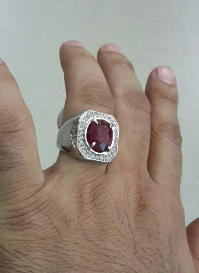 harga Cincin batu natural ruby red ring alpaka (ukuran suai pesanan) Tokopedia.com