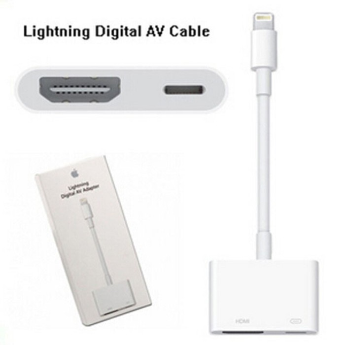 iphone to hdmi. usb lightning to hdmi adapter for iphone 5 / ipad mini air original iphone hdmi