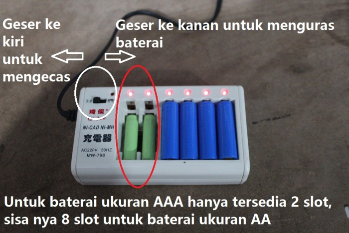 Jual Charger rechargeable 10 in 1 cas pengecas baterai AA AAA NI-CD ... d64cef3525