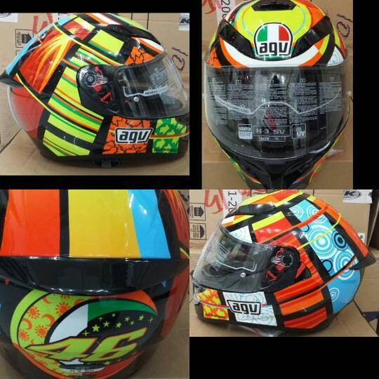 Jual Helm Agv K3 Sv Elements Double Visor Kota Surabaya Helm Original Surabaya Tokopedia