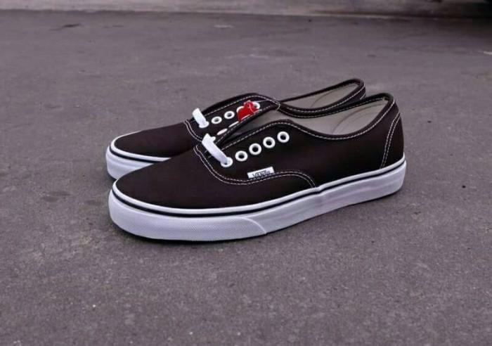 100% Original Vans Authentic Black White