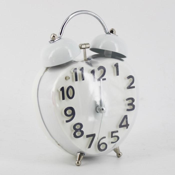 Ruibao alarm clock/jam weker transparan-love white
