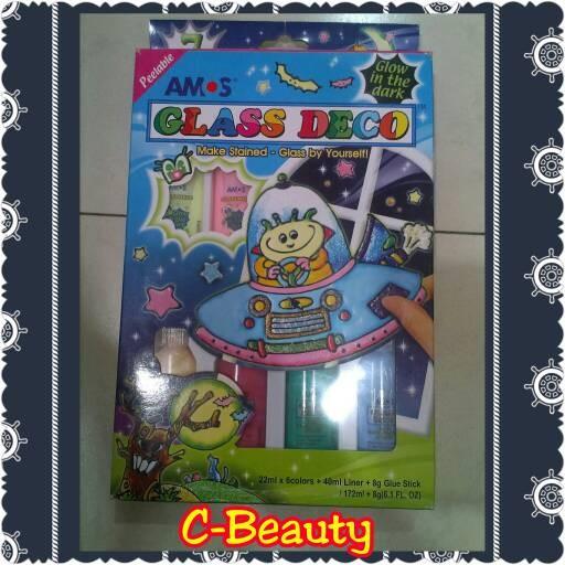 harga Paket amos glass deco glow in the dark ~ mainan anak motorik kreatif Tokopedia.com