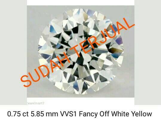 harga Diamond moissanite 075 crt 585 mm vvs1 white yellow Tokopedia.com