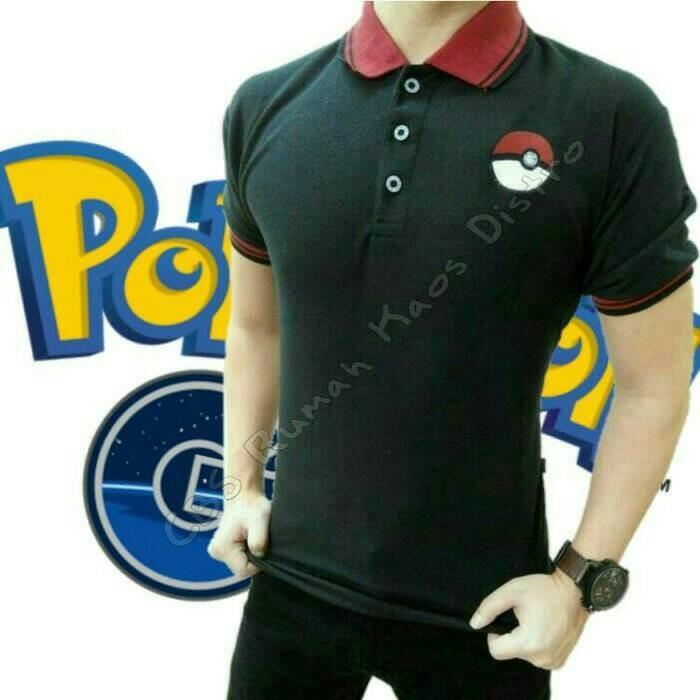 harga Kaos polo kerah pokemon go indonesia pokeball pikachu Tokopedia.com