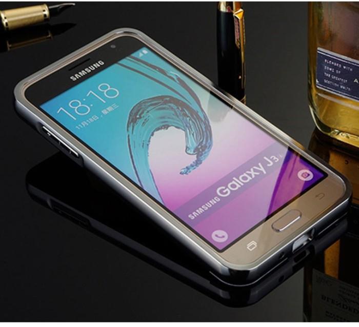 low priced b8110 1c4e6 Jual Samsung Galaxy J3 Bumper Mirror Aluminium Metal Cover Hard Back Case -  Jakarta Pusat - SmartShop007   Tokopedia