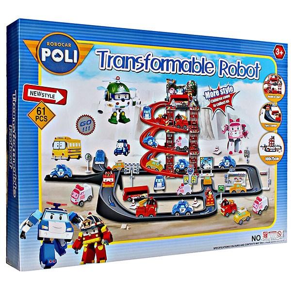 ... Mainan Anak Track Robocar Poli TRANSFORMABLE ROBOT TRACK POLI 660 194