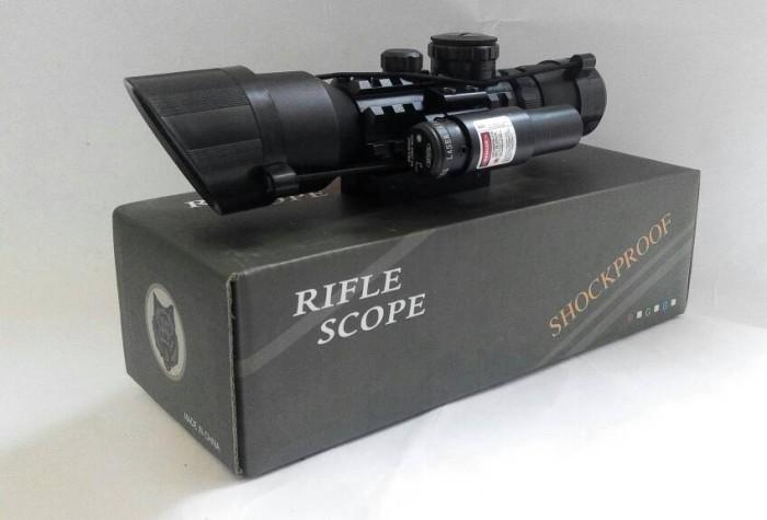 Jual teleskop senapan angin m9 rifle scope shockproof toolkit shop