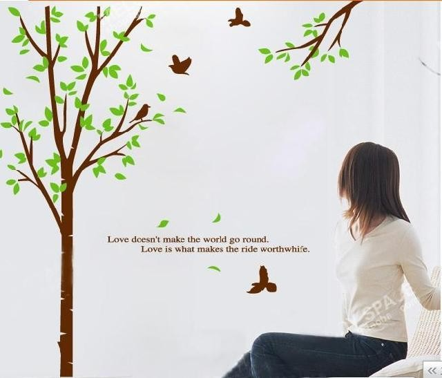 jual pohon ranting jm7095 - wall sticker/ stiker dinding 60x90cm
