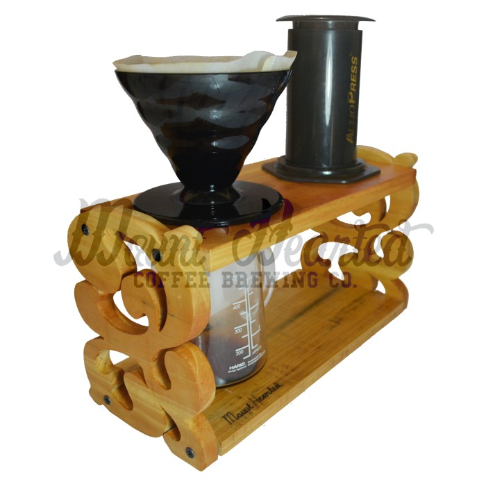 Jual Pour Over Coffee Stand Holder, for V60, Vietnam Drip, Aeropress Batik - Mount Hearted ...