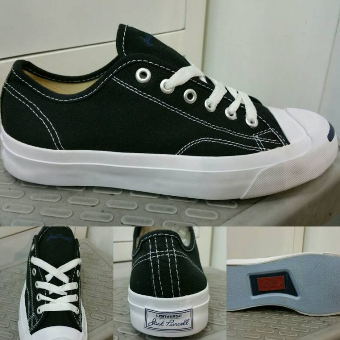 ... harga Sepatu kets converse all star jack purcell canvas low black white  Tokopedia.com 9ef622c476
