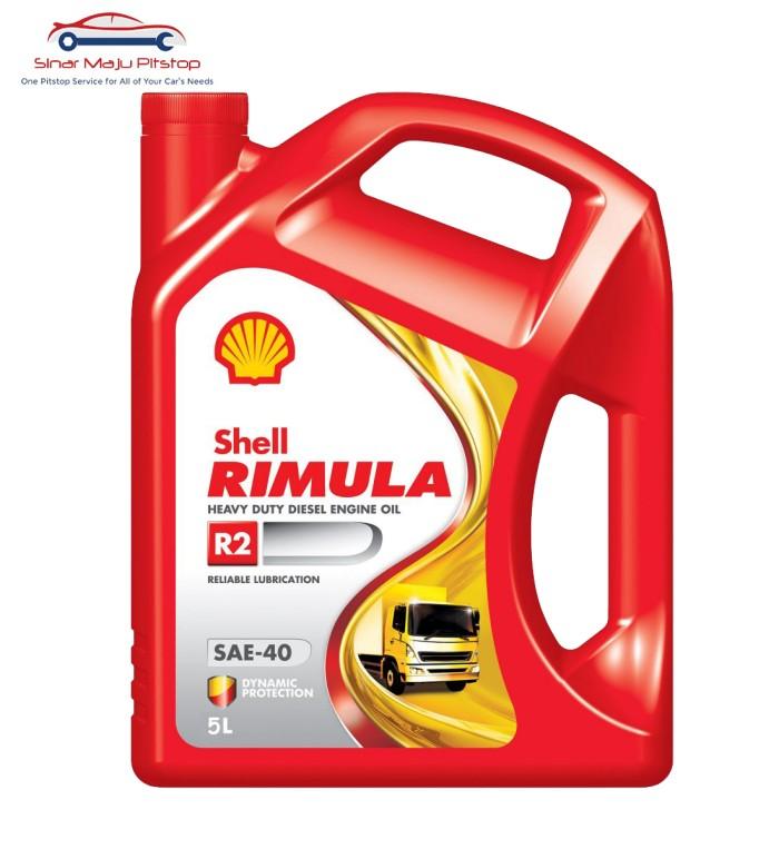 Shell Rimula R2 SAE 40 Oli Pelumas Mesin Mobil Diesel 5 Liter Original