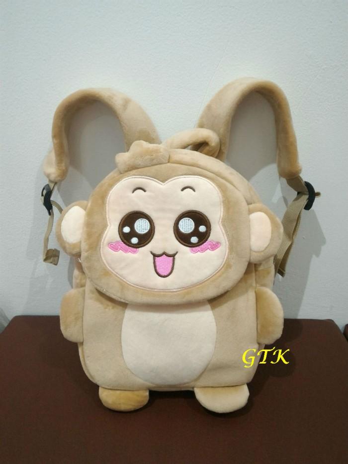 harga Tas boneka yoyo cici monyet lucu(tutup depan) ransel karakter anak Tokopedia.com