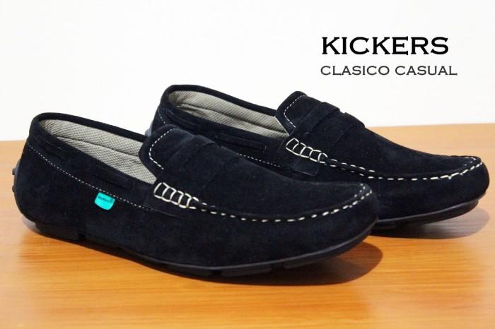 Jual diskon gede !! sepatu kickers suede slop slip on casual flat ... 6cf44f35e0