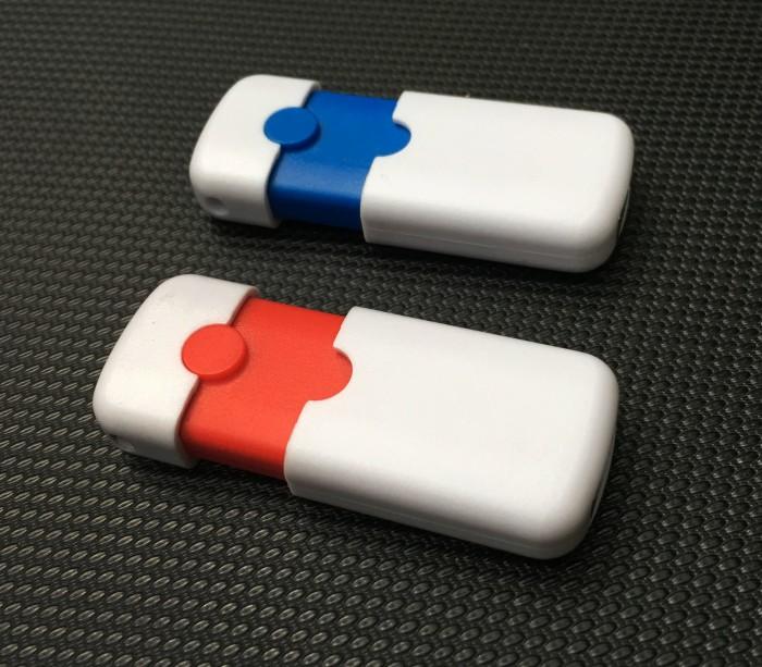 Foto Produk Souvenir Flashdisk Dual Tone Push 4GB - Polos dari USBCRAFT