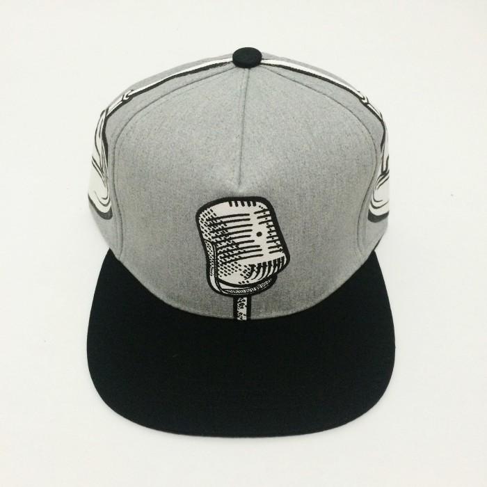 harga Topi snapback microphone headset abu hitam import murah Tokopedia.com