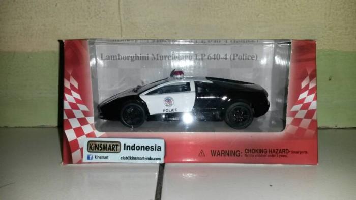 Jual Kinsmart Lamborghini Murcielago Police Sm Toys Tokopedia