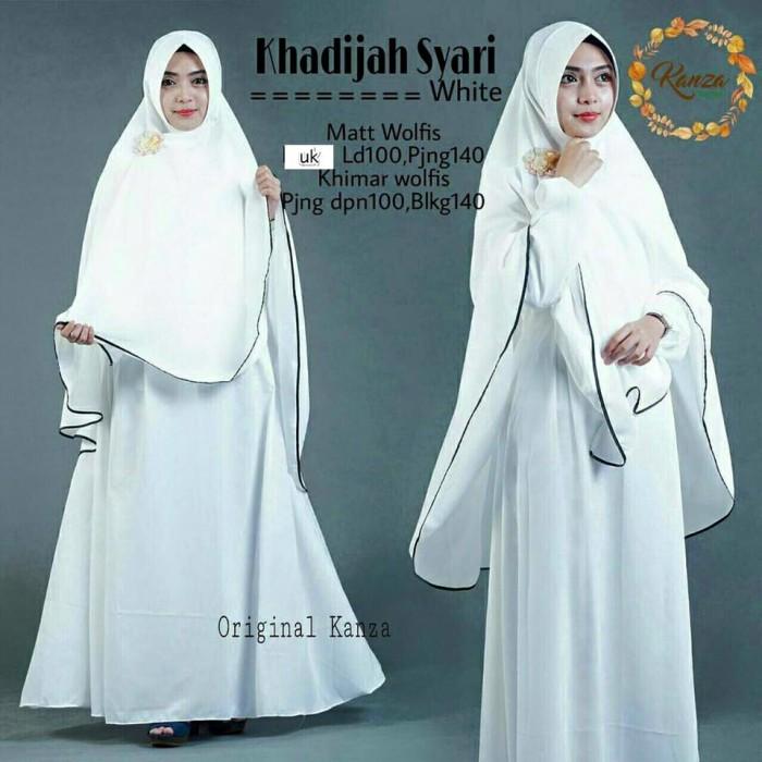 harga Khadizah syari white vg / baju syari / gamis / londress / jilbab putih Tokopedia.com