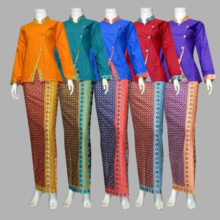 Jual Kebaya batik setelan baju kantor kerja rok blus D1908  Baju