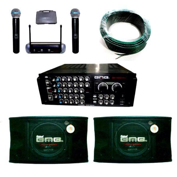 sound system with mic. paket sound system bmb (amplifier+mic+speaker+kabel) with mic