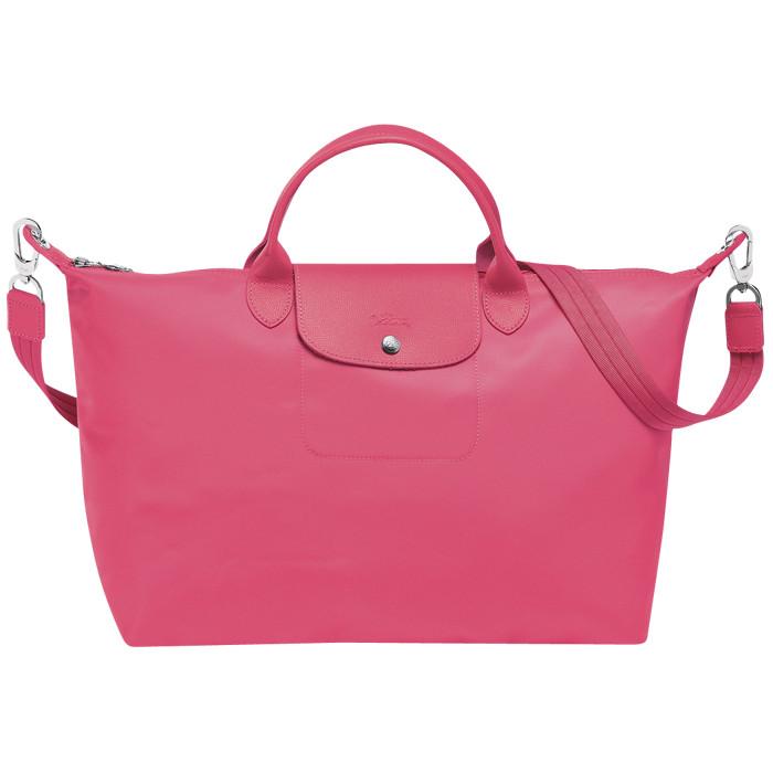 100% Authentic MEDIUM Longchamp Le Pliage Neo Original hitam ruby pink 80547fdbd7