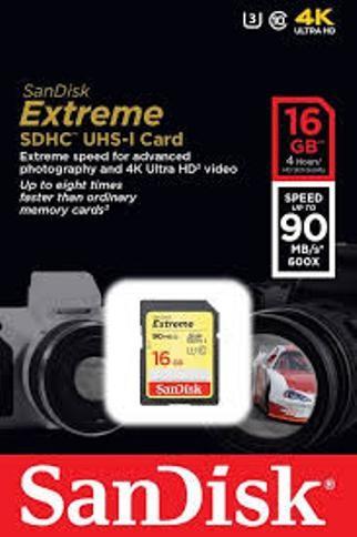 harga Sandisk sdhc extreme 16gb class 10 uhs-i (90mb/s) Tokopedia.com