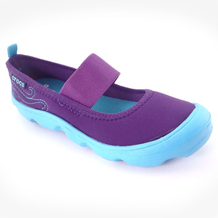harga Crocs duet skimmer kids - ungu Tokopedia.com