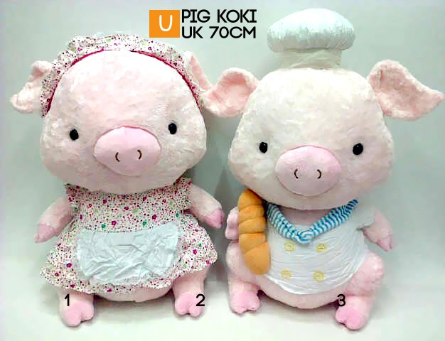 harga Boneka Pig Koki Couple Jumbo Giant Impor Boneka Babi Uk.70cm Tokopedia.com