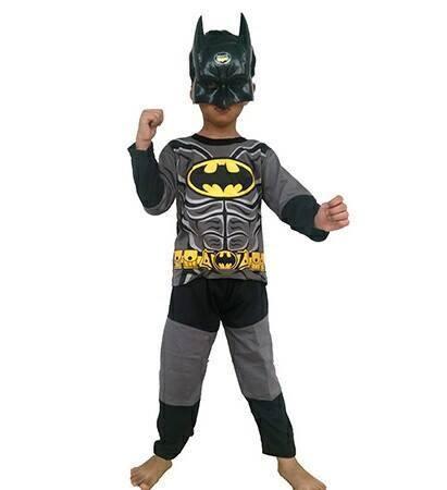 baju anak kostume superhero Batman - baju + topeng superhero Batman