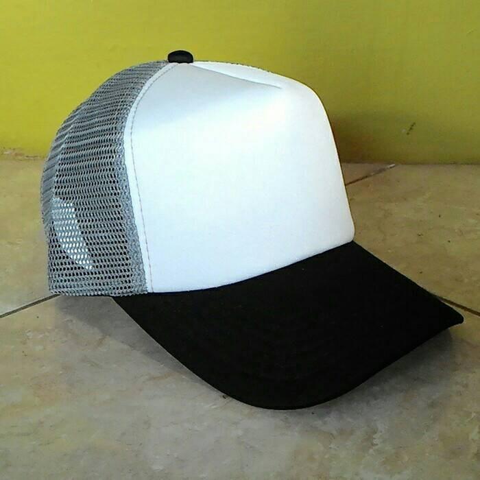 Jual topi jaring trucker polos warna hitam putih abu - Lapaku Shop ... 60e751dece