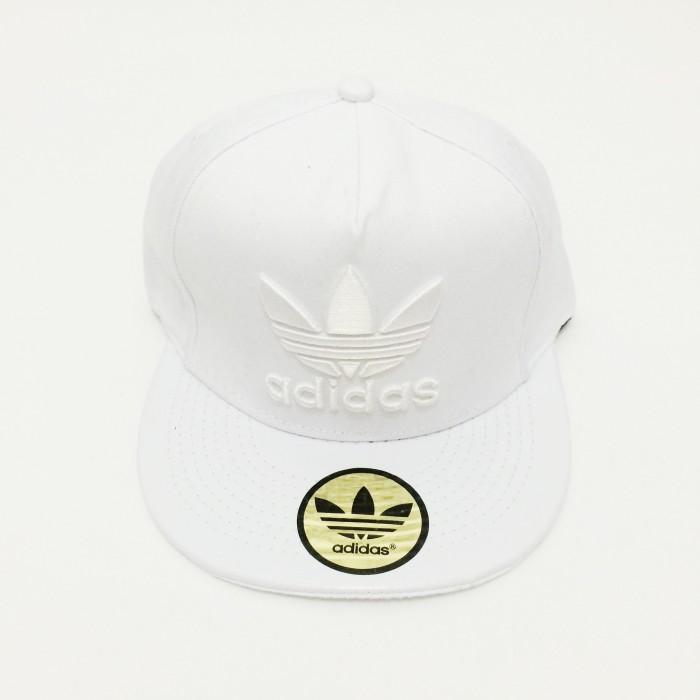 Jual Topi Snapback Adidas Full Putih Bordir Putih import murah ... d77ee83e20