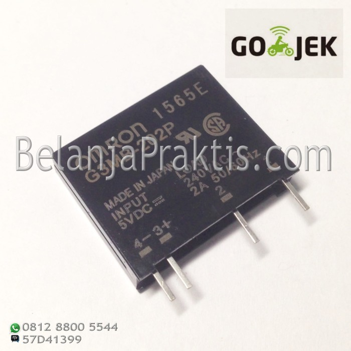harga Omron ssr g3mb-202p dc ac - solid state relay in 5vdc out 240v ac 2a Tokopedia.com