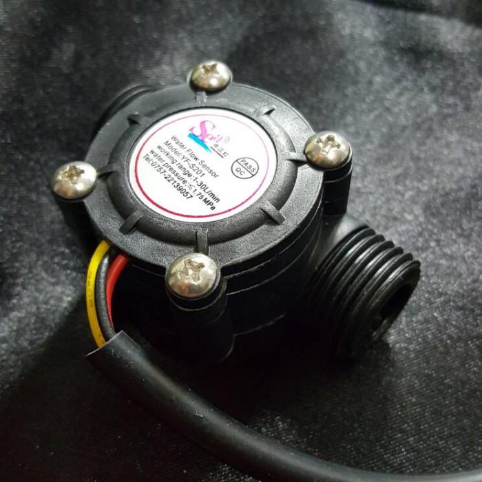 Jual Water Flow Sensor / Flowmeter / Hall Flow Water Control for Arduino -  Kota Bekasi - RAJACELL BEKASI   Tokopedia