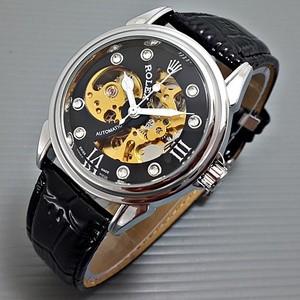 harga Jam tangan rolex automatic silver-black motif sabit kulit hitam Tokopedia.com