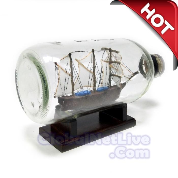 harga Miniatur kapal pinisi dewaruci dalam botol p19- hiasan pajangan rumah Tokopedia.com