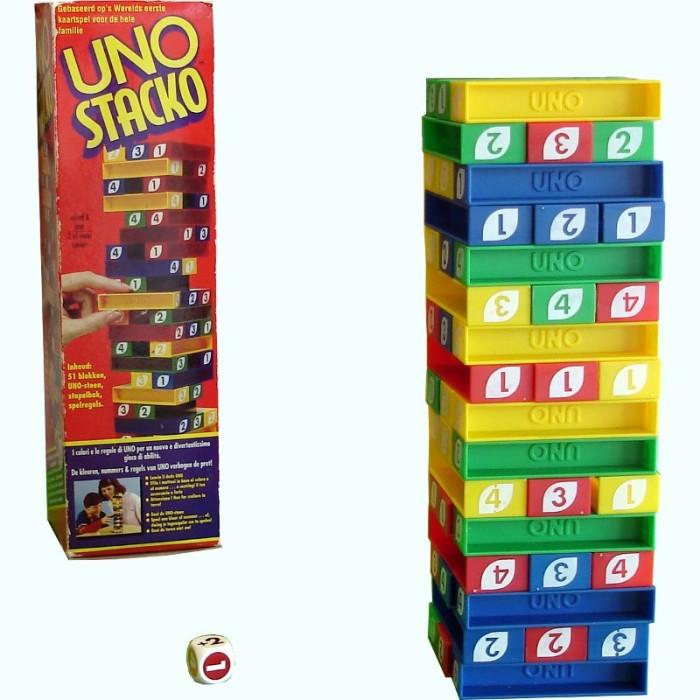 Jual Permainan Game Uno Stacko Permainan Menyusun Balok Menara