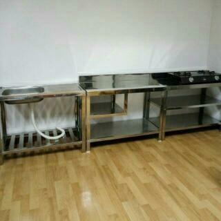 Jual Kitchen Set Stainless Steel Meja Stainless Tokopedia
