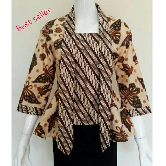 Jual Baju batik wanita model kutu baru sogan atasan batik wanita ... 6633eeb4b0
