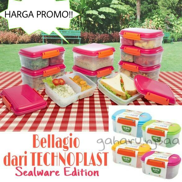 Lunch Box Bellagio Oval (L) Technoplast / kotak makan sealware