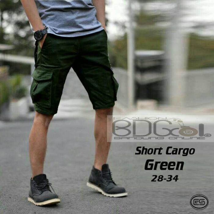 harga Celana cargo pendek hijau army pdl pria celana gunung kargo dc hitam Tokopedia.com