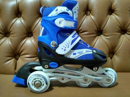 harga Sepatu roda inline skate bajaj power superb 6032 -biru- Tokopedia.com