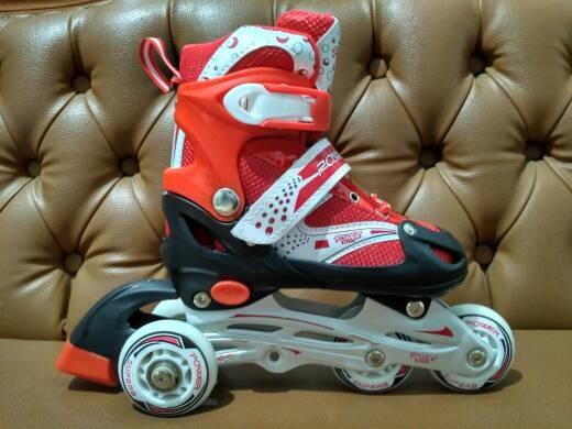 harga Sepatu roda inline skate bajaj power superb 6032 -merah- Tokopedia.com