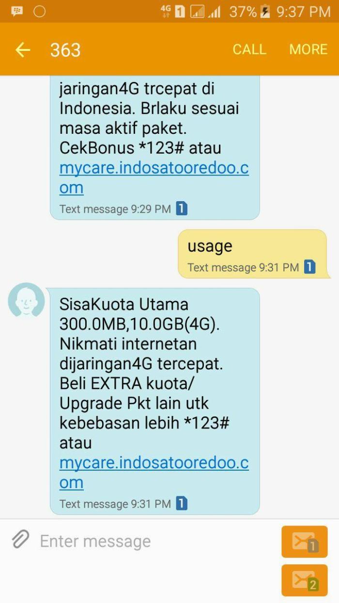 Jual Paket Internet Indosat 103gb Data Murah Im3 4g Kuota 3gb